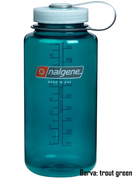 Láhev NALGENE Wide Mouth 1 l - trout green