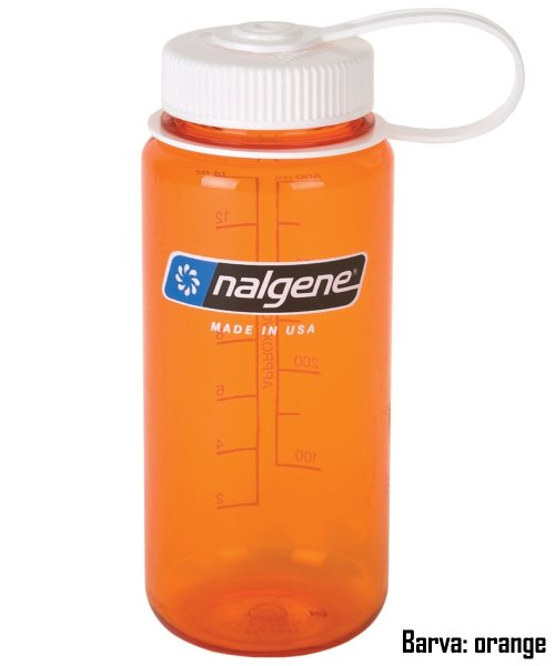 Láhev NALGENE Wide Mouth 0,5 l - orange