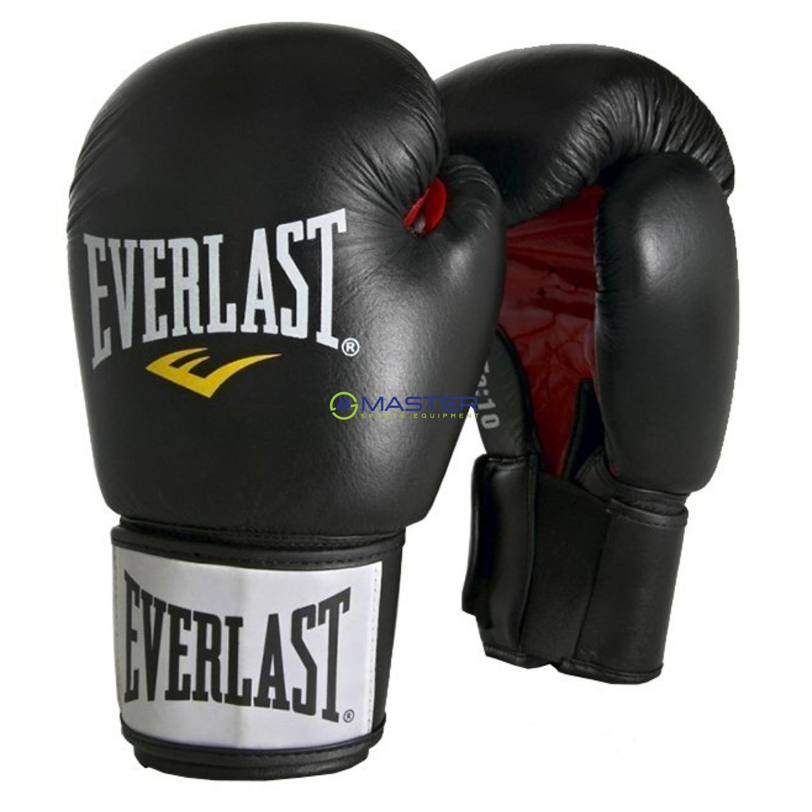 dc3f9d00fb5 Boxerské kožené rukavice EVERLAST Moulded Ergo černé ...