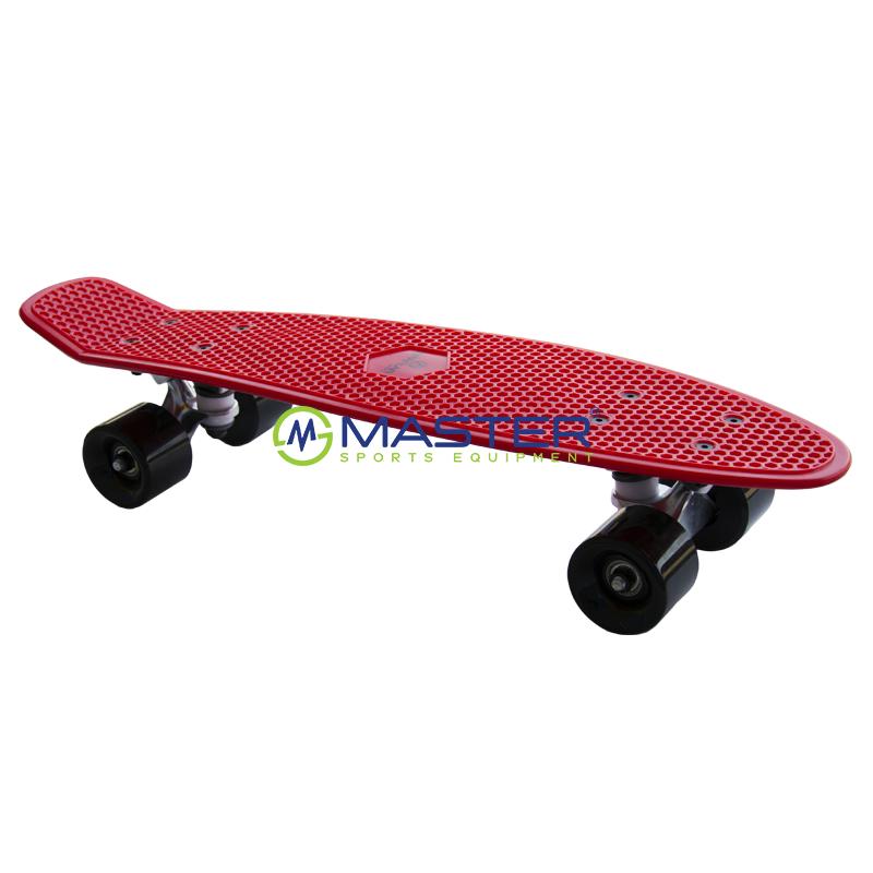 Plastic Penny Board SPARTAN - červený  9665f23b25c