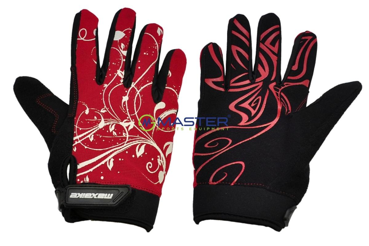 394c52a8f08 Cyklo rukavice MAXBIKE dámské celoprsté vel. S černo-červené ...