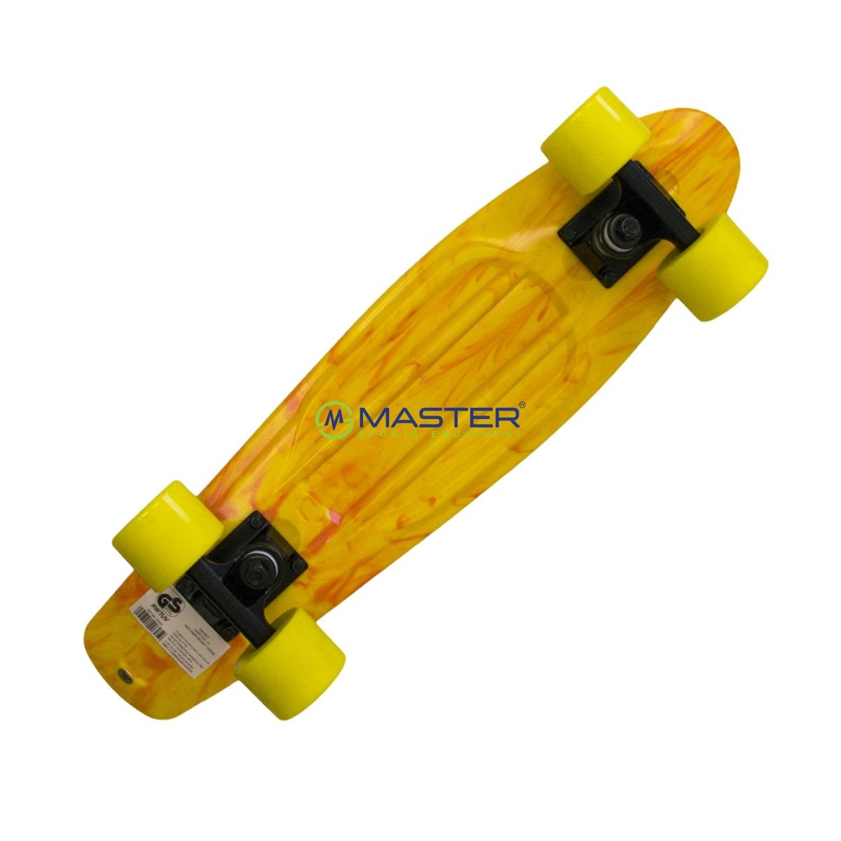 Plastic Penny Board SPARTAN - žlutý  de0417ee1b2