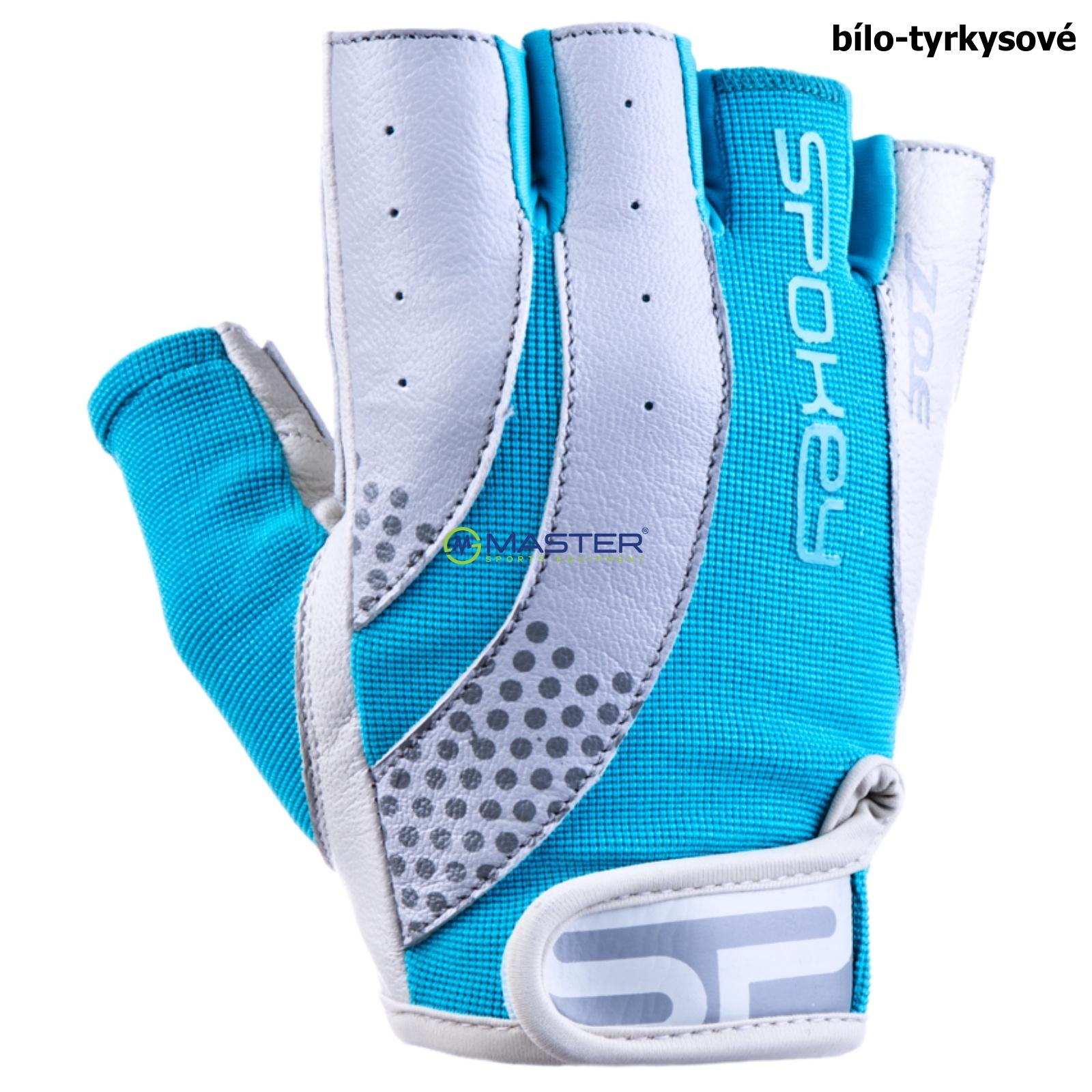 Fitness rukavice SPOKEY Zoe II bílo-tyrkysové - vel. L ... 8575a3d28b