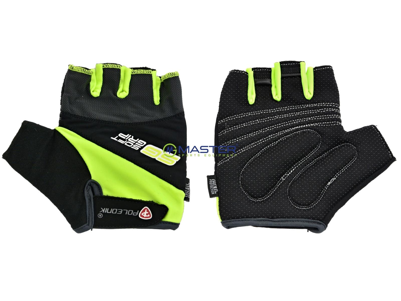 2110d386397 Cyklo rukavice POLEDNIK Pánské F4 reflexní žlutá