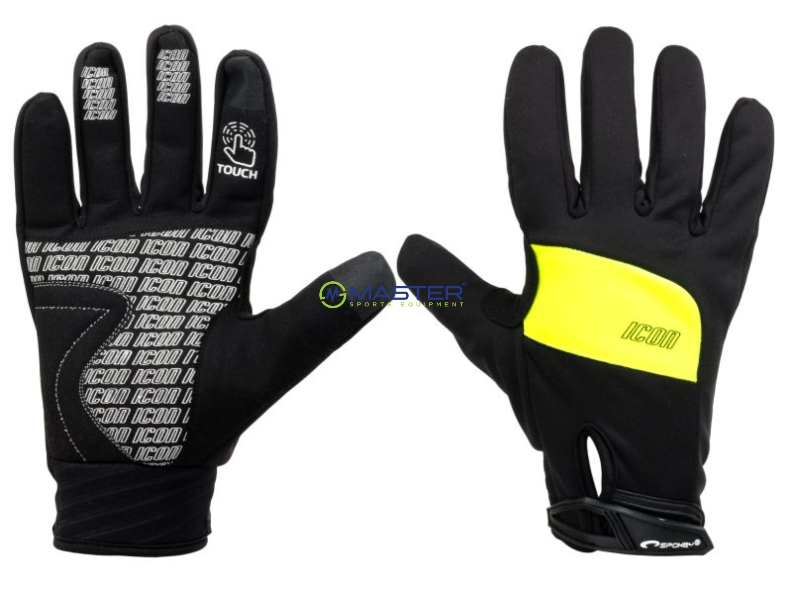 39940ac06ce Cyklistické rukavice SPOKEY Icon černo-žluté vel. S ...